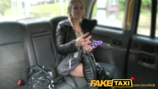 Preview 3 of FakeTaxi Sex toys critic takes a spanking