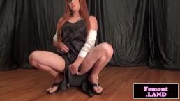 Poledancing trap amateur jerking cock