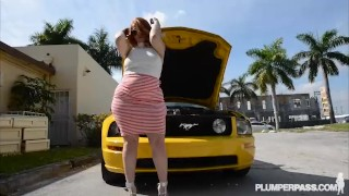 PAWG Gets Fucked After Her Car Breaks Down  butt anal chunky pawg plumperpass ass bbw booty chubby fat