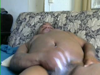 masterbating with lotion and toy