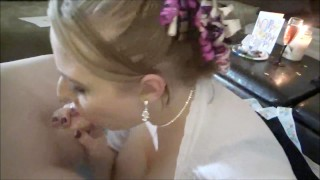 Whip Cream Birthday: Big Natural Tits Blonde Milf Deepthroats & Cum Swallow