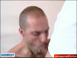 Full video: An innocent guy serviced his big cock by a guy!