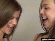 Teen chicks sharing a hard dick