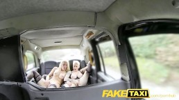 FakeTaxi Two Dutch ladies get hot and sweaty