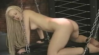 Preview 4 of Sexy long haired slave meets the flogger for the first time