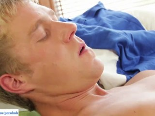 Sexy Blond Jimmy Busts A Nut