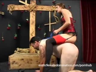 Mistress Brandi Lyons tests her slave's limits in a bdsm session