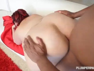 Big Belly BBW Jazmin Torres Enjoys BBC cumming in her