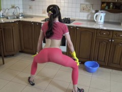SEXY YOUNG PINK KITCHEN DANCE AND TWERK BY IRA VERBER