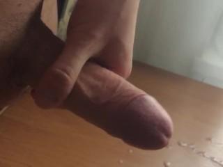 massive cumshot after long masturbate...