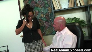 RealAsianExposed - Jessica Bangkok Is the Best Secretary Ever  doggy style big ass jessica bangkok big tits babe glasses reverse cowgirl trimmed asian blowjob cunnilingus hardcore office secretary facial realasianexposed