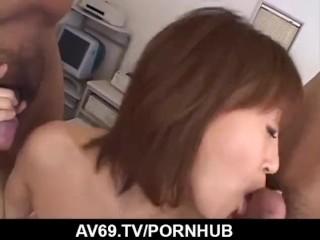Jun Kusanagi gets nasty on cock while at work