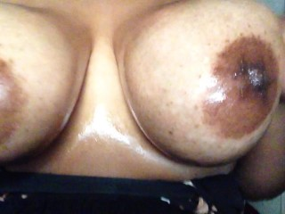 sexy oily natural big tits