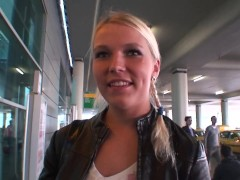 Beauty czech babe pick up at airport and fucked