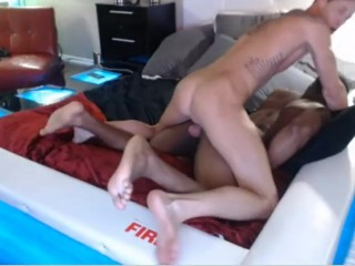 Hot interracial couple fucking again on cam- black man is a god !!