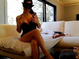 Sexy brunette shaking orgasms