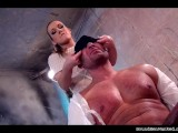 Alexis humiliates strong muscular guy and sexually dominates him