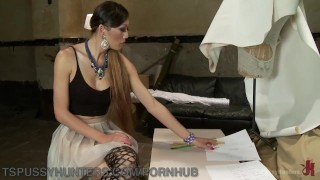 Fashion Student Gets A Creampie From Classmate