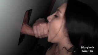 Hope's 1st Gloryhole Cock cumshot cum swallow blowjobs gloryhole