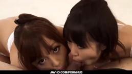 Subtitles - Anri Hoshizaki in beautiful japanese threesome action