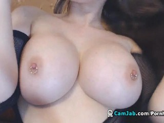 Home Alone Busty Babe Musterbating On