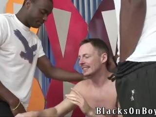 Merciless black dudes sharing a poor white guy