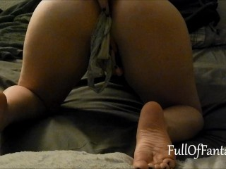 Stuffing panties in my asshole