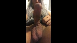Asian Trap Jerks her sissy clit