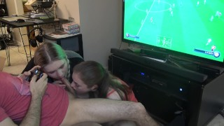 Blowjob sandwich + fifa (spanish)