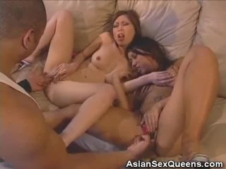 Fingered Asian Honeys Cock Sucks