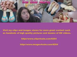 TSM - Lola's lace socks foot sniffing handjob (FSHJ)
