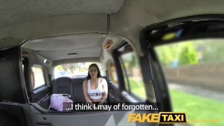 Preview 1 of FakeTaxi Brunette likes to workout on cock