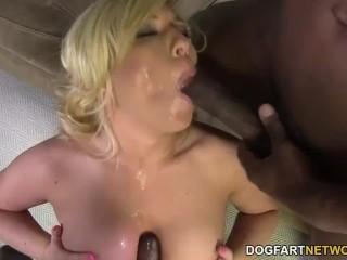 Heidi Hollywood takes BBC anal creampie