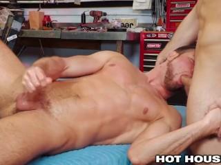 HotHouse Riding Sebastian Kross' Huge Cock