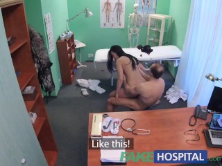 FakeHospital Doctor frees loveballs deep in pussy