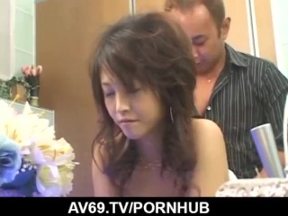Moe Ousawa feels amazing with a big dick in her bush
