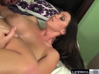Pornstar Alison Tyler tit fucks guy cum on ass