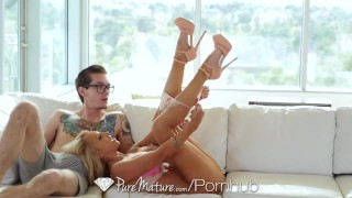 PureMature - Sexy blonde Alix Lynx great blowjob