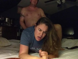Sexy wife wakes up husband, wants to be fucked and creampied!
