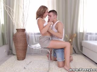 Teeny Lovers - Teeny and her bf enjoy hot sex