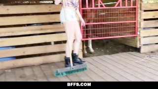 BFFS - Hot Country Girls Share A Cock  blonde cumshot missionary orgy hardcore smalltits brunette cowgirl bffs shaved group-sex facialize bigcock group facial doggystyle