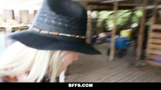 Preview 5 of BFFS - Hot Country Girls Share A Cock