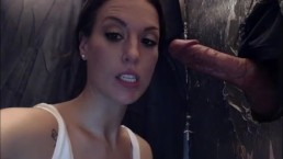 latina with big ass and tits sucking and fucking through a glory hole