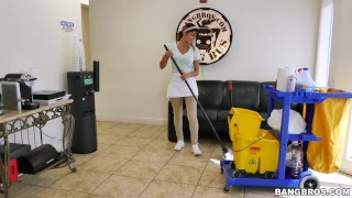 The new cleaning lady swallows a load!  teen bangbros maid dirty lady young hardcore mydirtymaid bangbrosnetwork latina latin teenager cleaning
