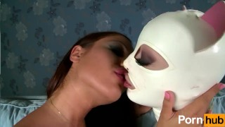 Latex Lucy the British Dominatrix 2 - Scene 1 girl on girl kitty cat toys femdom spanking pornhub kink british dominatrix latex shaved uniform lesbian brunette fetish body suit