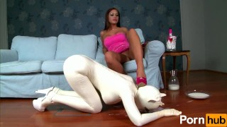 Latex Lucy the British Dominatrix 2 - Scene 1  spanking british dominatrix femdom fetish toys kink lesbian brunette latex shaved uniform body suit girl on girl pornhub kitty cat