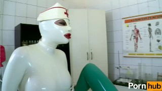 Latex Lucy the British Dominatrix 1 Best Of - Scene 4  big ass big tits high heels nurse femdom fetish kink lesbian body suit feet latex uniform pussy licking girl on girl clinic shaved pussy