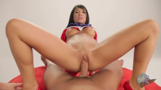 Sailor Mars Gets Fired up Looking at the Cock - Sailor Poon 1  sailor mars fellatio bj oral cosplay oriental cumshot tattoo skinny japanese fingering orgasm woodrocket