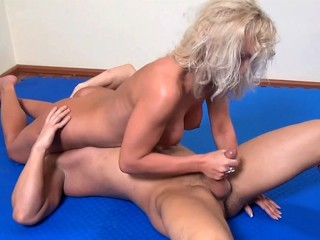 Agnes makes a fool out of Miky and sucks his cock