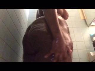 Bubble Butt Sista is Washing Her Body